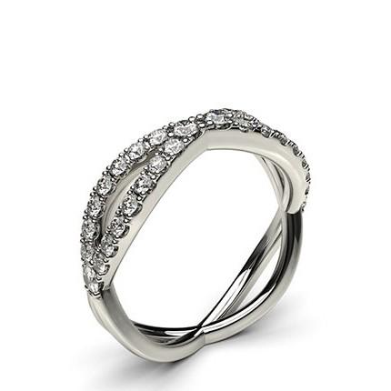 5.10mm Studded Flat Profile Diamond Shaped Band
