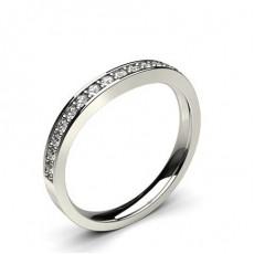 Anillo En Forma De Diamante De Ajuste Cómodo Y Ligero Con Tachuelas De 2,50 Mm