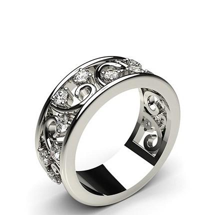 3-Kloinfattad Briljant Diamant Fashion Ring