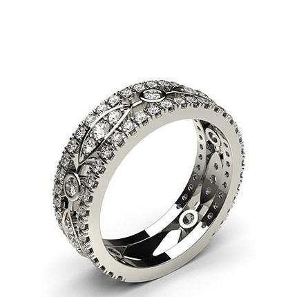 4-Kloinfattad &: Pavéfattad Briljant Diamant Fashion Ring