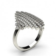 Bague fantaisie diamant rond serti 3 griffes en 0.75ct