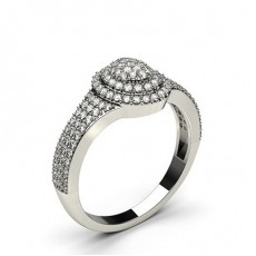 Rund Diamant Klynge Ringer