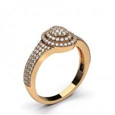 Rose Gull Diamant Klynge Ringer