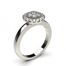 Platinum Diamond Cluster Rings