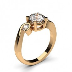 Rotgold 3 Diamanten