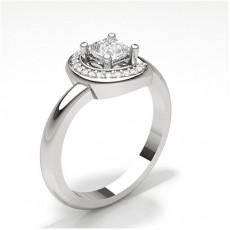 4 Prong Setting Side Stone Engagement Ring