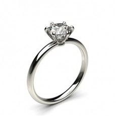 Prong Setting Plain Engagement Ring