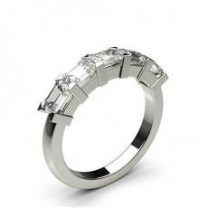 Emerald Diamond Eternity Rings