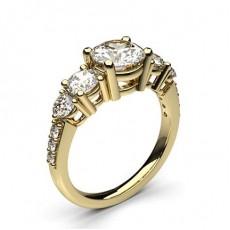 Gult Gull 5 Steiner Diamantringer