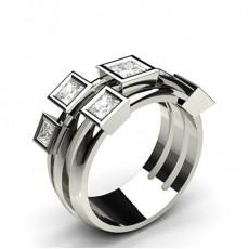 Princess Statement Diamond Rings