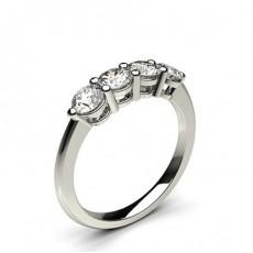 Rotondo Anelli con diamanti Half Eternity