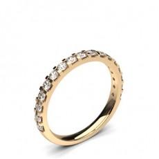 Anillo De Diamantes De Ajuste Cómodo Y Ligero Con Tachuelas De 2,10 Mm