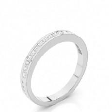 2.50mm Studded Slight Comfort Fit Diamond Wedding Band