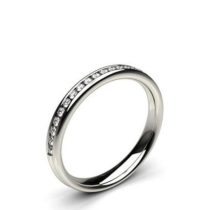 3.10mm Smyckad Standard Passform Diamant Vigselring