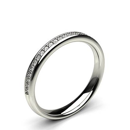 Beschlagene Standard-fit Diamant- Hochzeits-Band