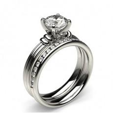 Platina Brude Forlovelses og Gifterings Sett