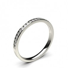 Platina Halv Diamant Evighetsringer