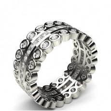 Mixed Shaped Diamond Rings