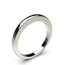 Women's White Gold Plain Wedding Rings