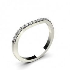 Alliance diamant rond confort profil plat serti rail