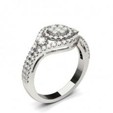 Platina Diamant Klynge Ringer
