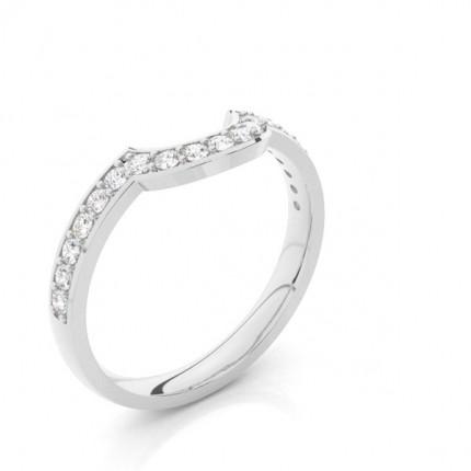 2.50mm Smyckad Lätt Bekväm Passform Diamant Formad Ring