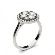Bague de fiançailles solitaire diamant rond serti 6 griffes