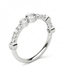 Komplett Ramme Innfatning Halv Diamant Evighetsring