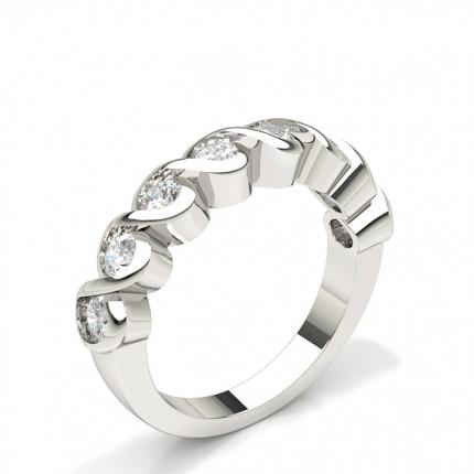 Bezel Indfatning Halv Evigheds Diamant Ring