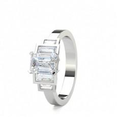 Blandede Former Diamantringe