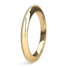 Gult Gull Moderne Bryllupsbånd For Kvinner