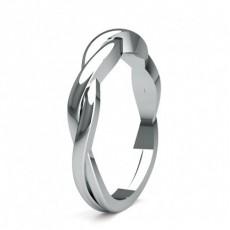 Diamantbesetztes Band mit einem flachen Profil