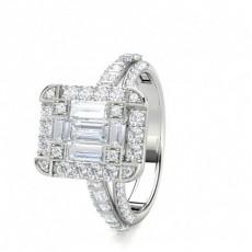 Baguette Illusion Bague Diamant