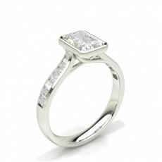 Radiant Seitenstein Diamantringe