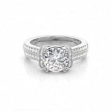 4 Prong Setting Round Diamond Engagement Ring