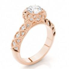 Or Rose Collection Ethereal de bagues de fiançailles
