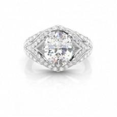 4 Prong Setting Oval Diamond Engagement Ring
