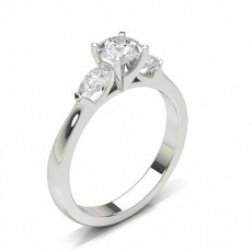 Round Trilogy Diamond Rings