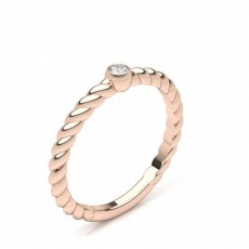 Rose Gold Cheap & Affordable Diamond Engagement Rings