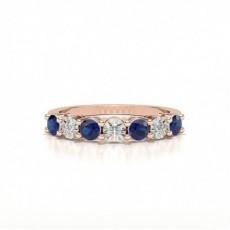 Rose Gold Diamond Half Eternity Rings