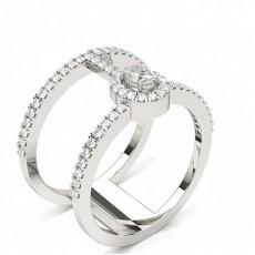 Oval Moderne Diamantringe