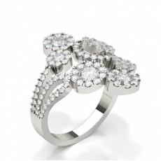 Bague à diamant rond sertie de griffes