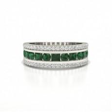 Runde Und Prinzessin Halbe Ewigkeit Smaragd Ring