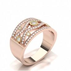 Rose Gold Fashion Diamond Rings