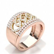 Rose Gull Moderne Diamond Rings