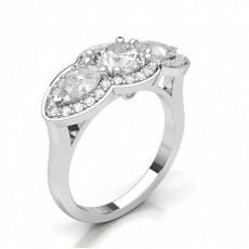 Round Diamond Rings Three Stone