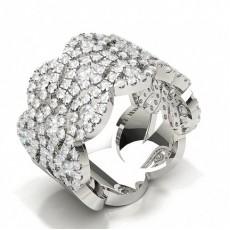 Bague de créateur à diamants ronds sertie de pavés de diamants