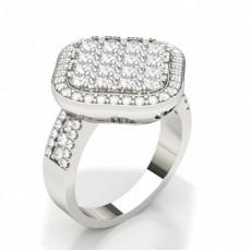 Bague sertie de diamants ronds sertis de diamants