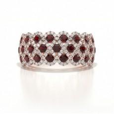 Rose Gold Ruby Rings
