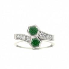 Round Emerald Rings